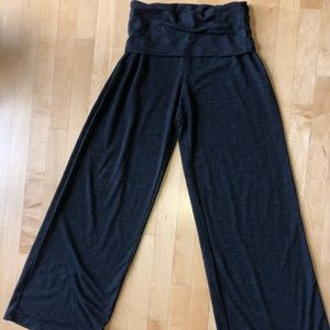Max Studio Wknd Wide Leg Lounge Pants Fold Waist